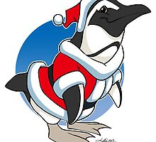 Christmas Penguin by UncaLar