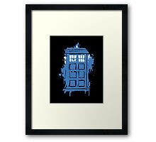 Painted in Blue and White Framed Print