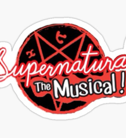 Supernatural The Musical (200th Episode) Print Sticker
