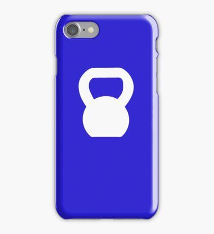Kettlebell WOD White iPhone Case/Skin