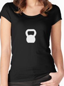 Kettlebell WOD White Women's Fitted Scoop T-Shirt