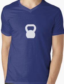 Kettlebell WOD White Mens V-Neck T-Shirt