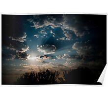 Moonlit clouds. Poster