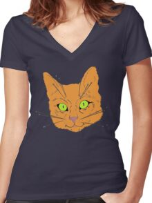 Cat's Whiskers Women's Fitted V-Neck T-Shirt