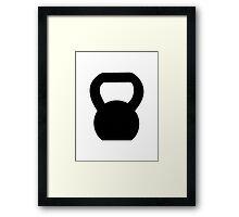 Kettlebell WOD Black Large Framed Print