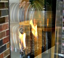 fire place illusion  by moregoodart