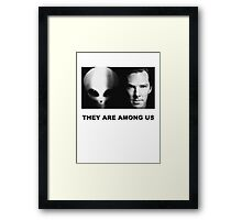 They Are Among Us - Benedict Cumberbatch is an Alien Framed Print
