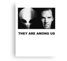 They Are Among Us - Benedict Cumberbatch is an Alien Canvas Print