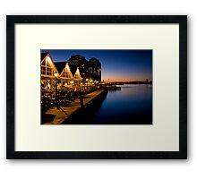 Halifax Waterfront Dusk Framed Print
