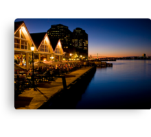 Halifax Waterfront Dusk Canvas Print