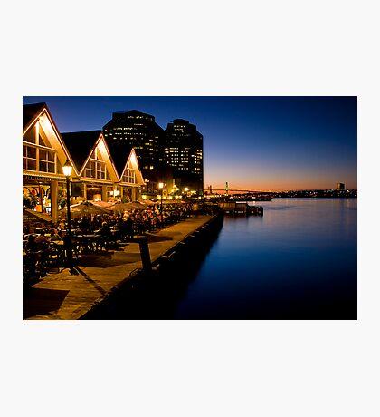 Halifax Waterfront Dusk Photographic Print