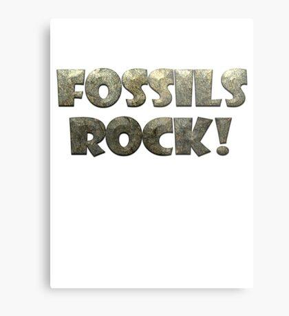Fossils Rock! Metal Print