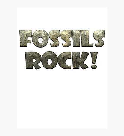Fossils Rock! Photographic Print