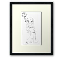 PENCIL ART - Our Geography (and the history that comes with it) Framed Print