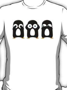 Three Wise Penguins T-Shirt