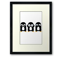 Three Wise Penguins Framed Print
