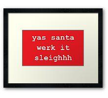 Yas Santa Framed Print