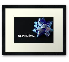 Congratulations... Framed Print