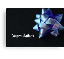 Congratulations... Canvas Print