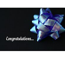Congratulations... Photographic Print