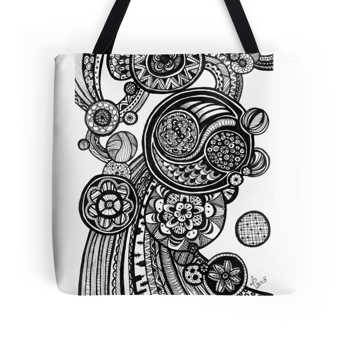 Rainballs Totebag - Dyan Burgess