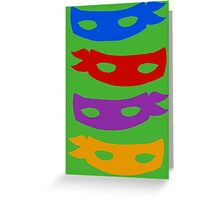 The Turtle Masks Greeting Card
