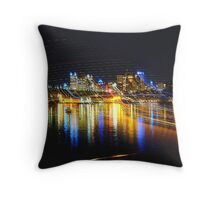 Light Lines - Darling Harbour, Sydney Australia Throw Pillow