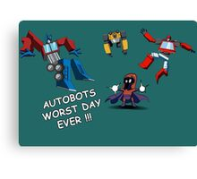 AUTOBOTS WORST DAY EVER !!! Canvas Print