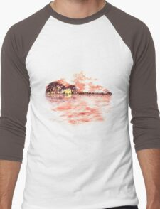 Musical Sunset Men's Baseball ¾ T-Shirt