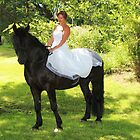 Wedding Dresses on a horse by photobylorne
