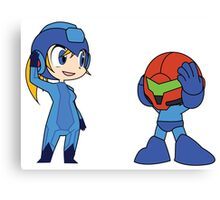 Chibi Zero Suit Samus and Megaman Canvas Print