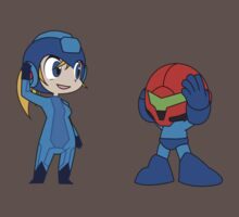 Chibi Zero Suit Samus and Megaman One Piece - Short Sleeve
