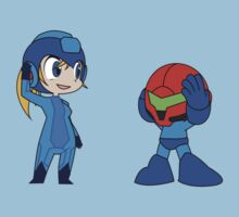 Chibi Zero Suit Samus and Megaman by ViralDrone