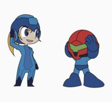 Chibi Zero Suit Samus and Megaman Kids Clothes