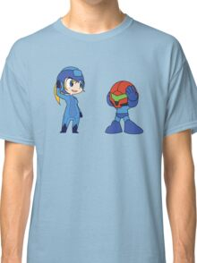 Chibi Zero Suit Samus and Megaman Classic T-Shirt
