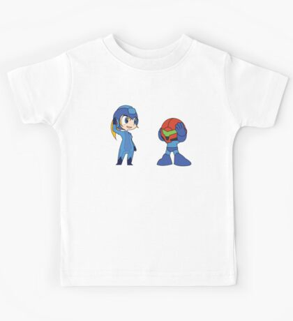 Chibi Zero Suit Samus and Megaman Kids Tee