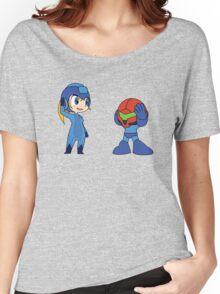 Chibi Zero Suit Samus and Megaman Women's Relaxed Fit T-Shirt