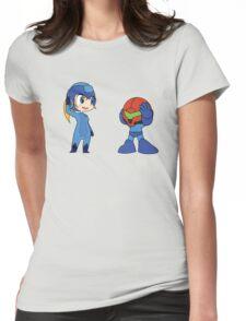 Chibi Zero Suit Samus and Megaman Womens Fitted T-Shirt