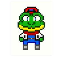 Slippy Toad - Star Fox Team Mini Pixel Art Print
