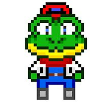 Slippy Toad - Star Fox Team Mini Pixel Photographic Print