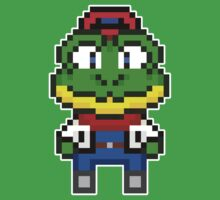 Slippy Toad - Star Fox Team Mini Pixel by geekmythology