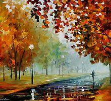 Foggy Autumn — Buy Now Link - www.etsy.com/listing/214099432 by Leonid  Afremov
