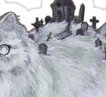 Graveyard Cat Sticker