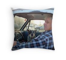 Half Brothers Throw Pillow