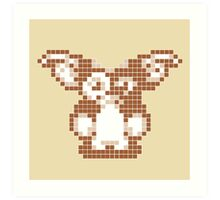 """Gremlins """"Don't Feed After Midnight."""" Gizmo Movie 8-bit Art Print"""