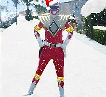 Festive Red Ranger Christmas Card by Joe Bolingbroke