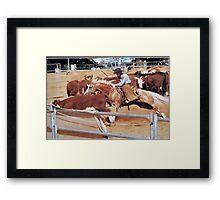 Leapping in Bounds Framed Print