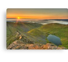 Scales Tarn from the Edge Canvas Print