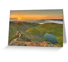 Scales Tarn from the Edge Greeting Card