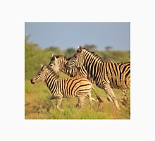 Zebra Run - African Wildlife - Following the Leader Unisex T-Shirt